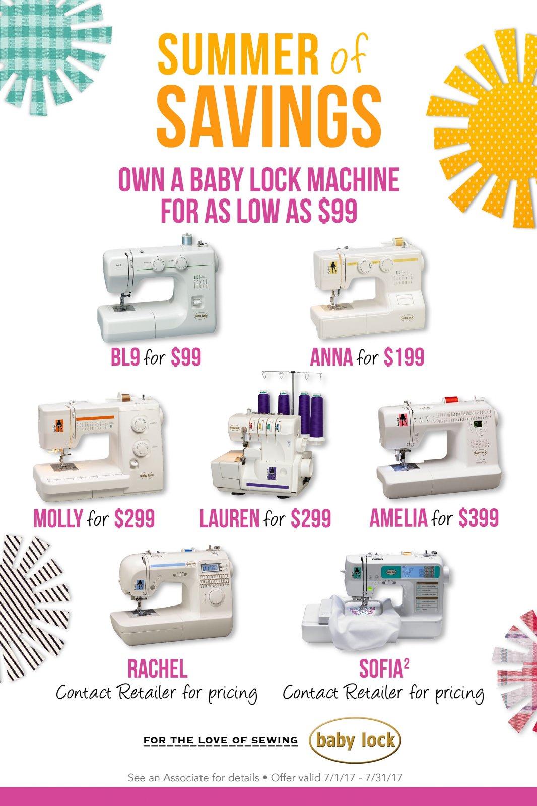 Baby Lock Offer