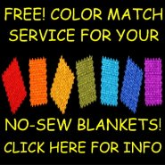 FREE no sew blanket color match