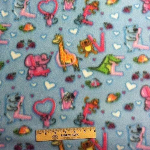 Baby kid teen fleece fabric for Fleece fabric childrens prints