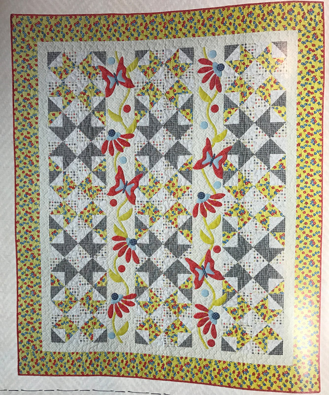 Spring Breeze quilt kit by Pat Sloan