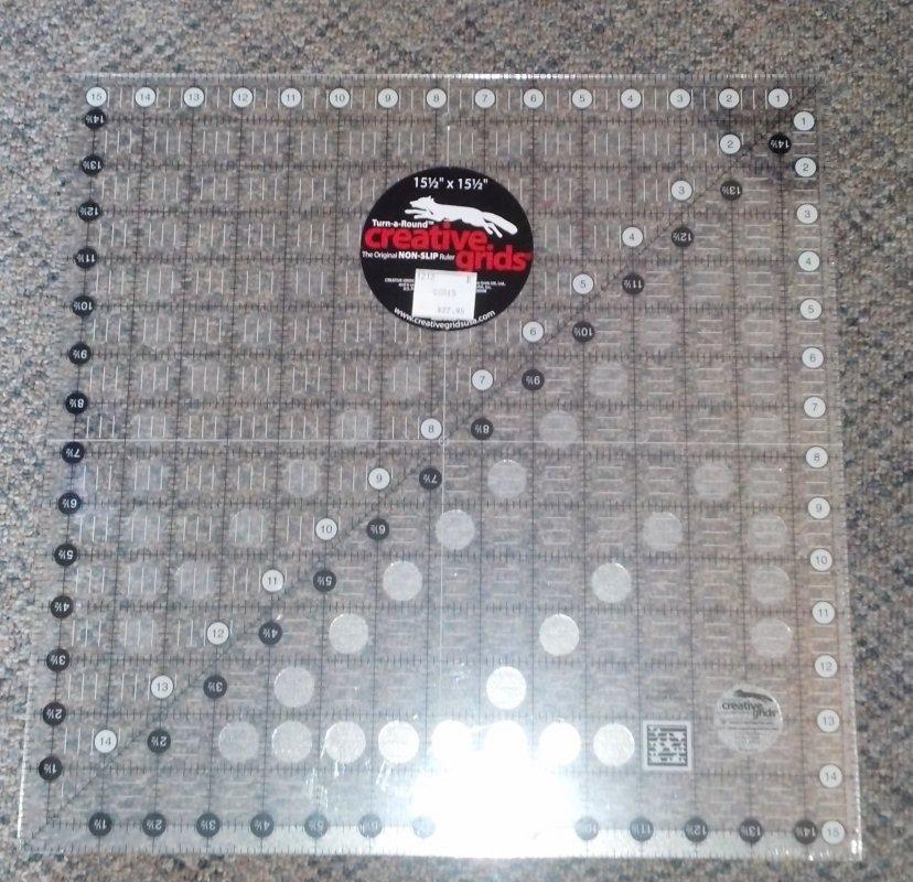 Creative Grids 15 5 In X 15 5 In Ruler Non Slip 743285000067