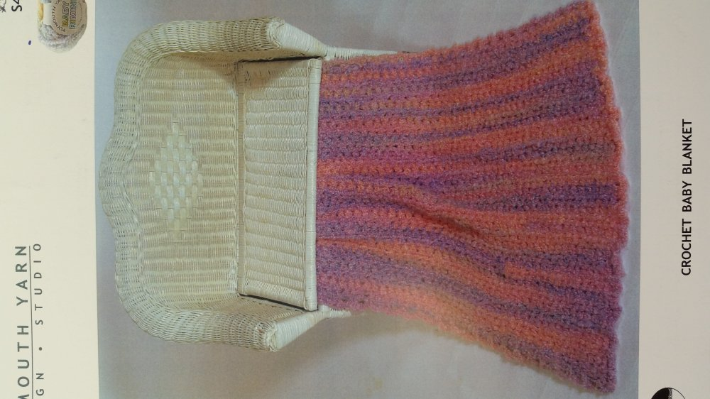 Blanket Knitting Pattern Books : Crochet Baby Blanket Pattern