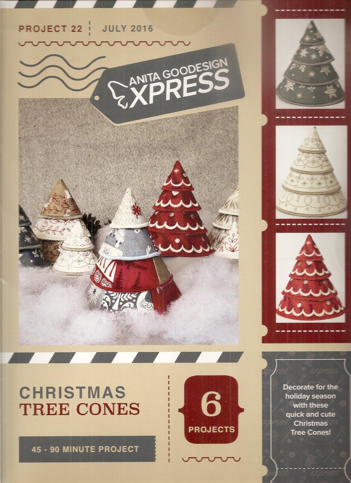 Anita goodesign express christmas tree cones