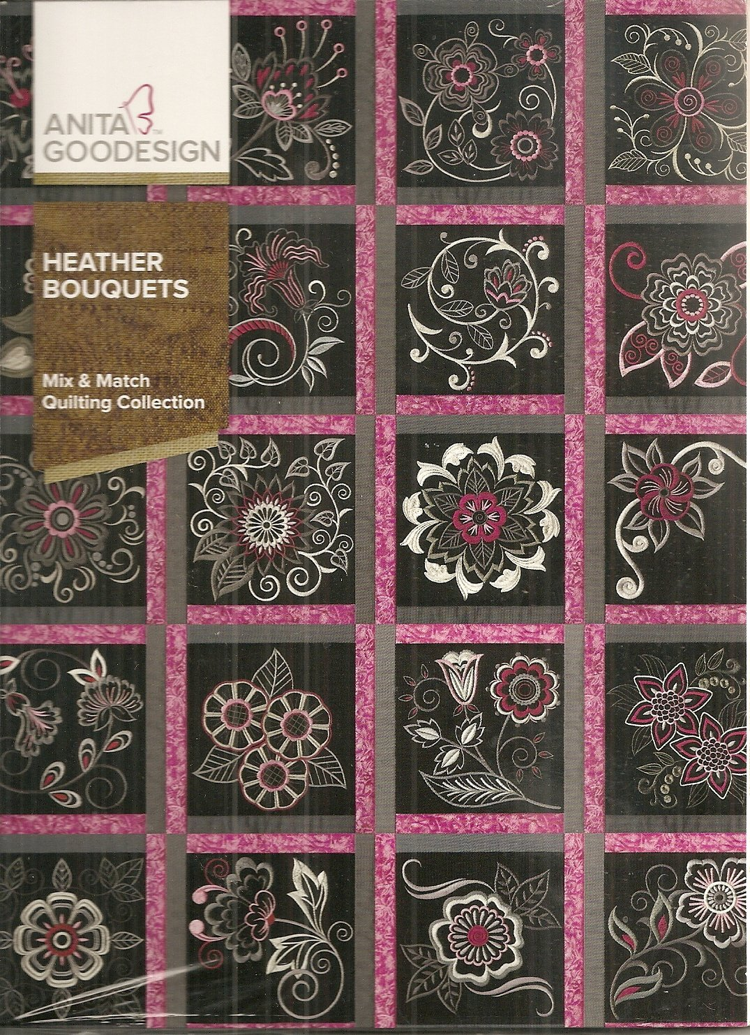 Anita Goodesign Mix Amp Match Quilting Heather Bouquets