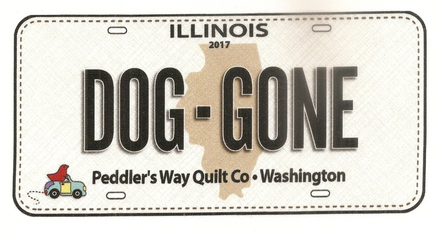 2017 Dog Gone Fabric Plate