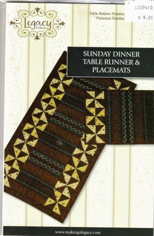 Sunday dinner table runner placemats 092145495360 for Dinner table placemats