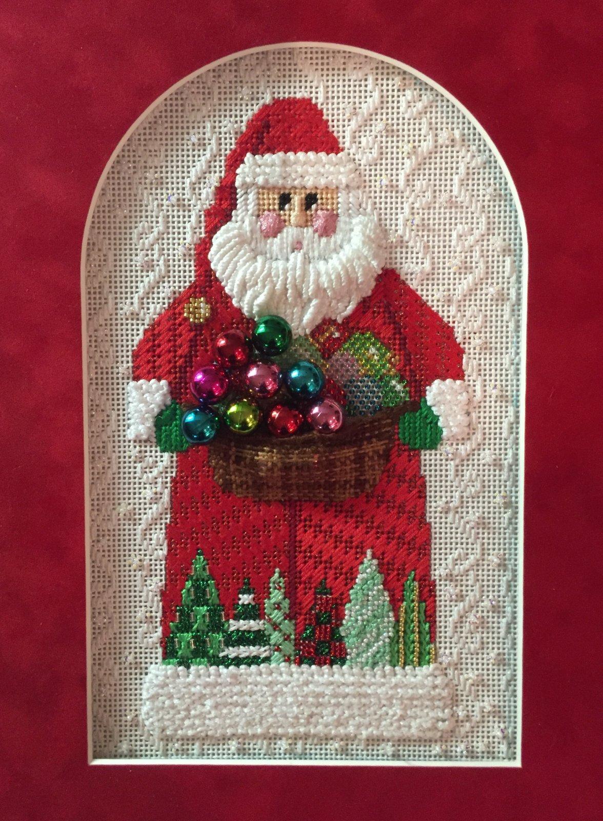 Santa with ornaments stitch guide