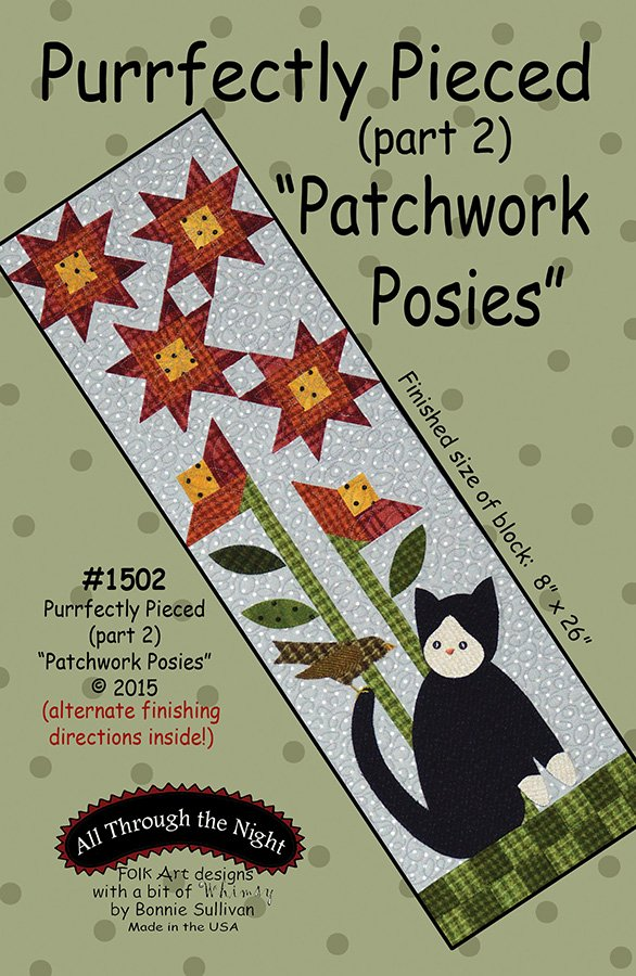 1502 Purrfectly Pieced Patchwork Posies (2)