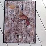 Thread Painted Cardinal