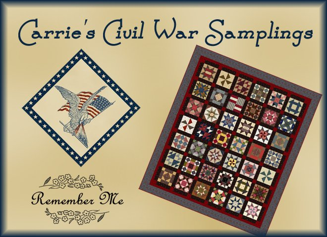 Carrie's Civil War Samplings Club
