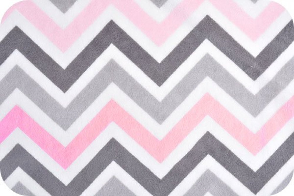 You Pick Snuggle Blanket Top Pink Amp Gray Chevron Print