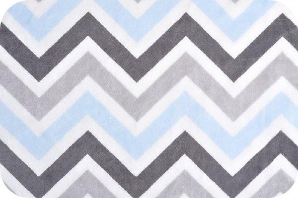 Chevron print fabric by the yard - You Pick Snuggle Blanket Top Blue Amp Gray Chevron Print