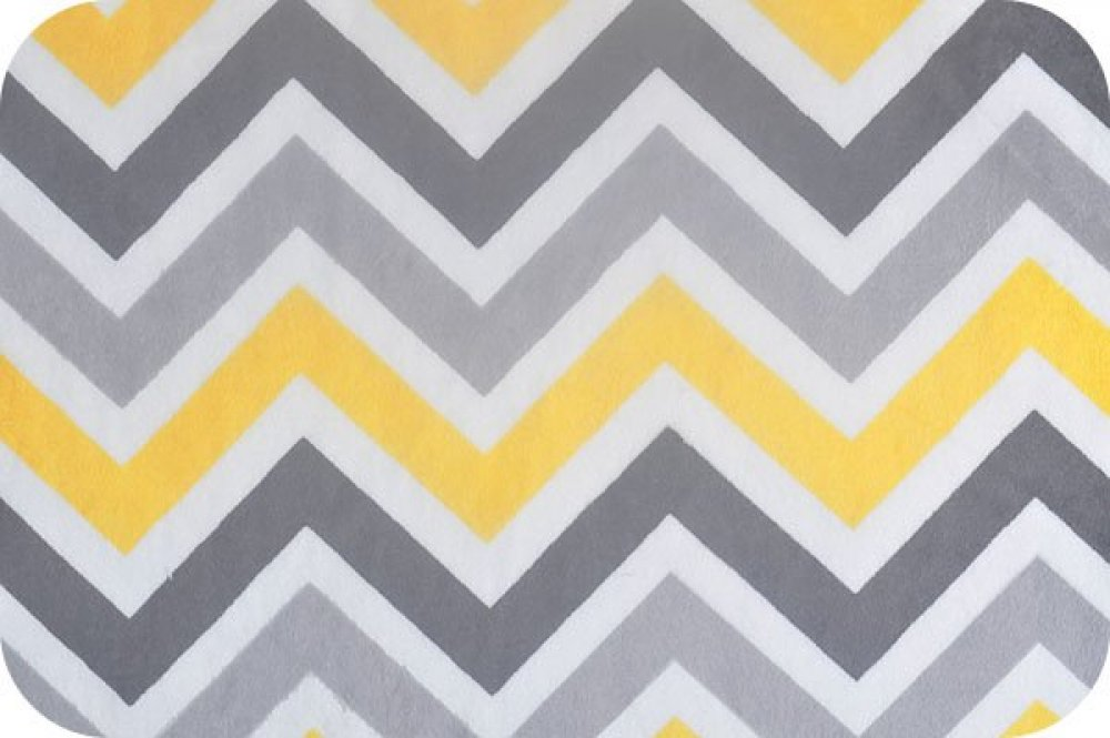Grey And Yellow Chevron Pattern