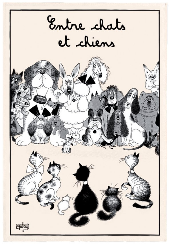 Between Cats and Dogs - by Dubout