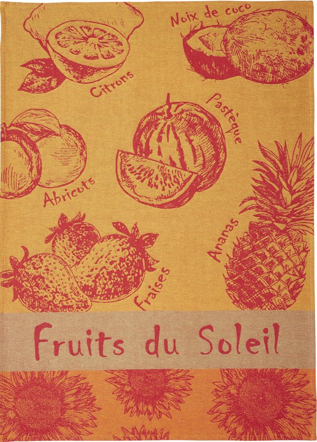 Coucke Summer Fruit tea towel