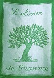 Coucke olive tree tea towel