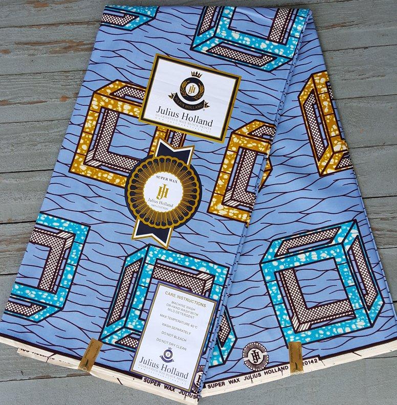 Dutch Super Wax printed fabric (blue) #600