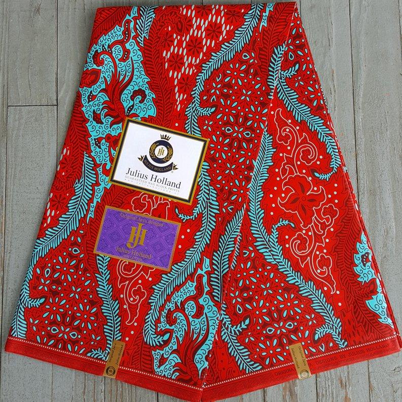 Dutch Java printed fabric (red) #611