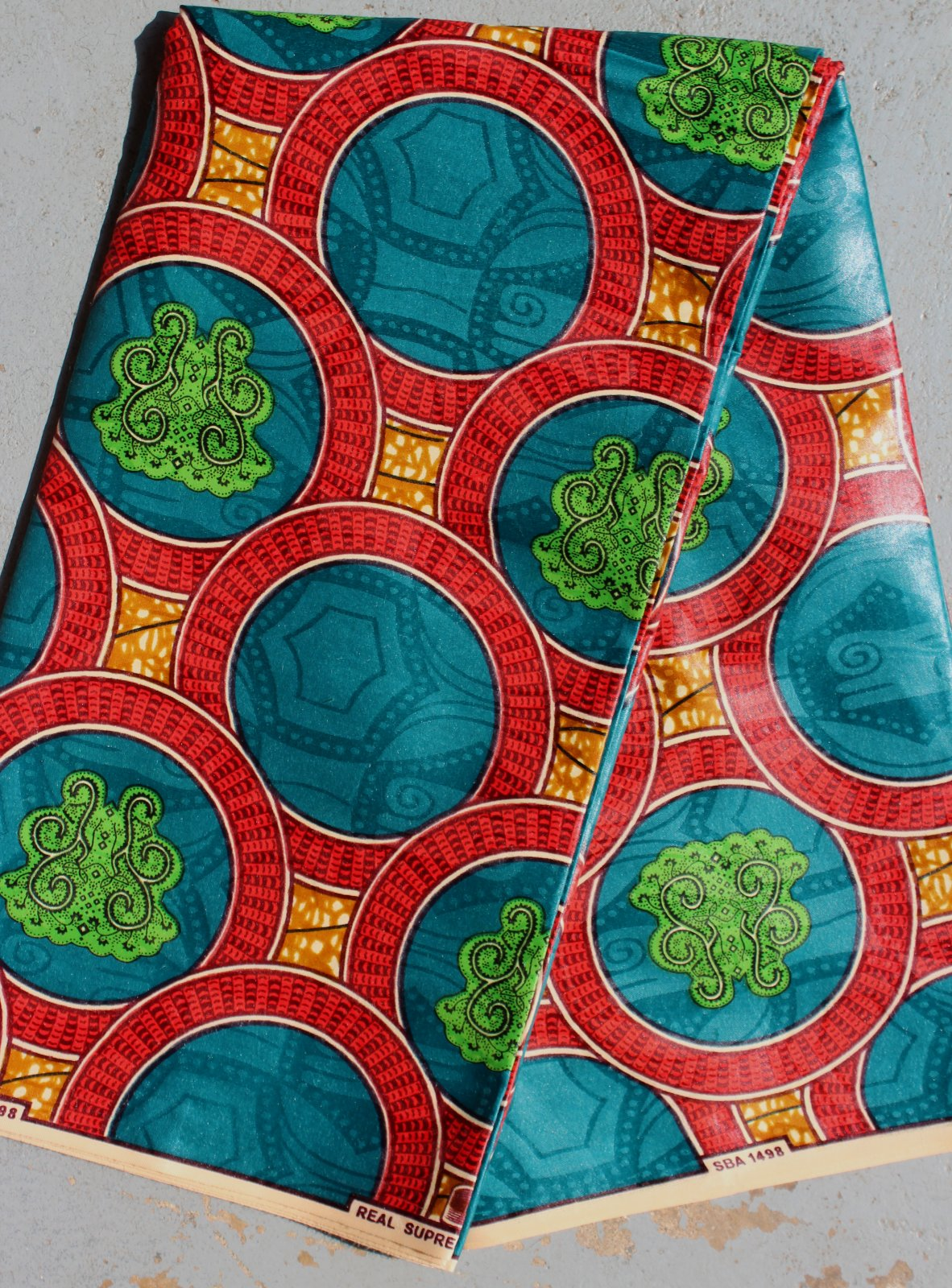 Dutch Printed Damask Fabric (red) #657