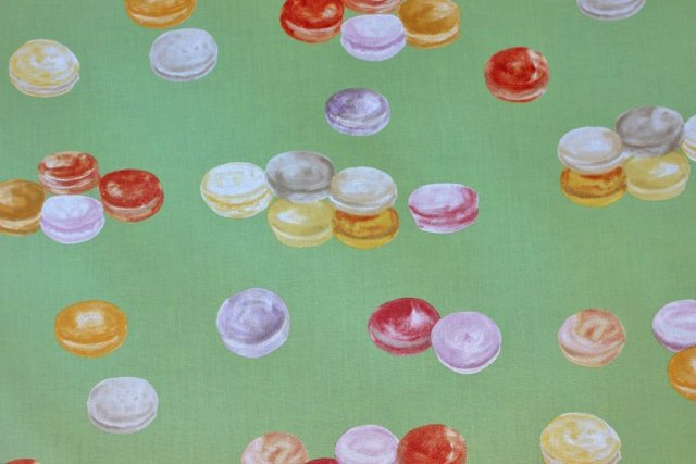 Acrylic coated French Macaron fabric - Green 71 wide