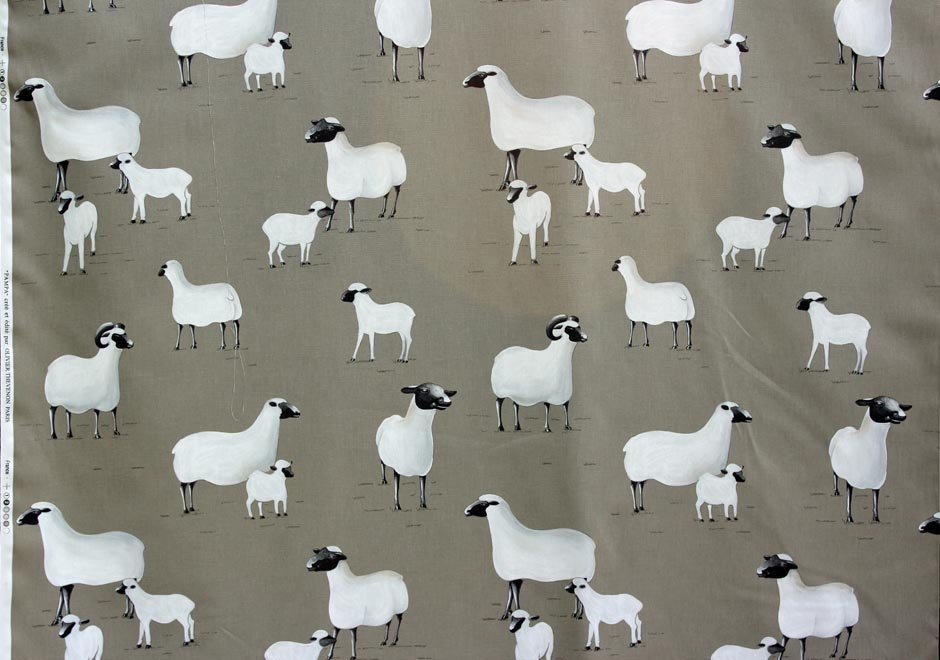 French Sheep Drapery Fabric 40
