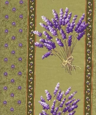 French Green Lavender fabric #166