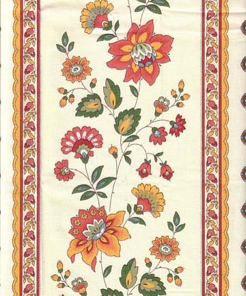 Red and gold Faience fabric #399