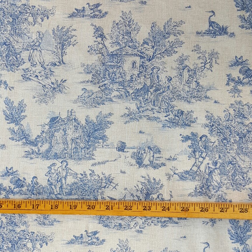 French blue pastoral small scale toile #593