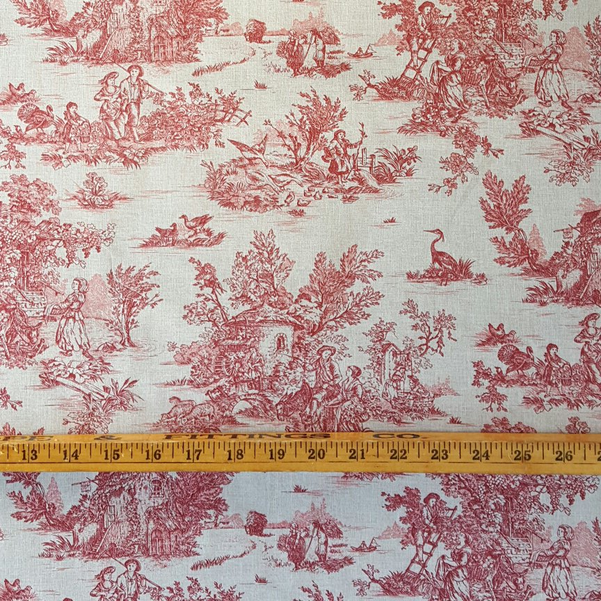 French red pastoral small scale toile #594
