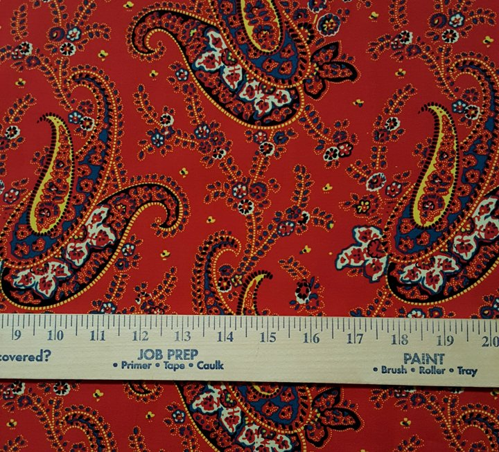 Shirt-Weight Cotton French Fabric (red) #612
