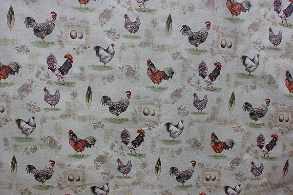 Acrylic coated French hen fabric