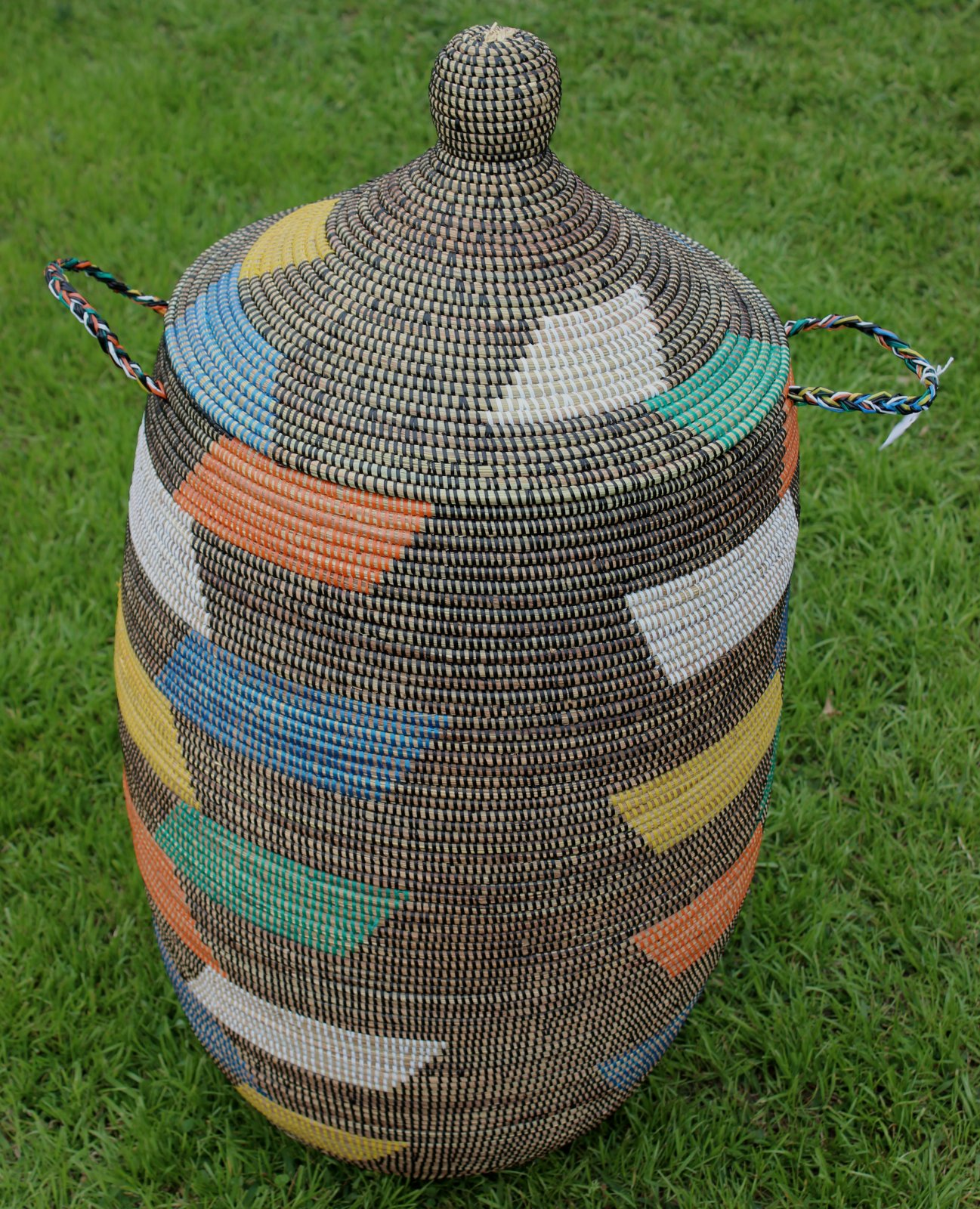 Senegal Round Top Grass Hamper XL #001