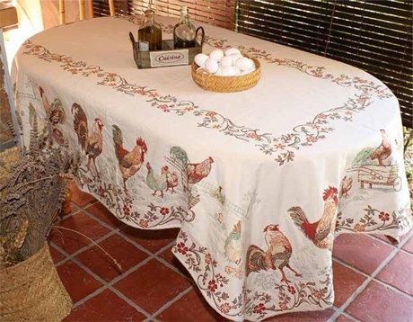 Jacquard Tablecloth Farm Off White
