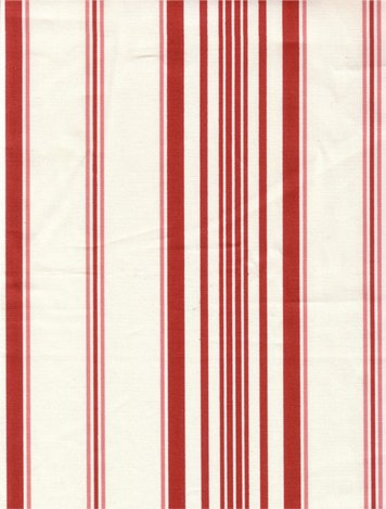 Red Striped Tonkin Toile Fabric