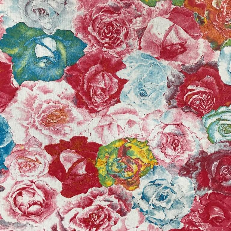 Acrylic coated floral fabric - #900