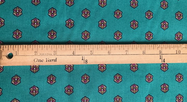 French Valdrome Picoli Fabric (teal and red) #606