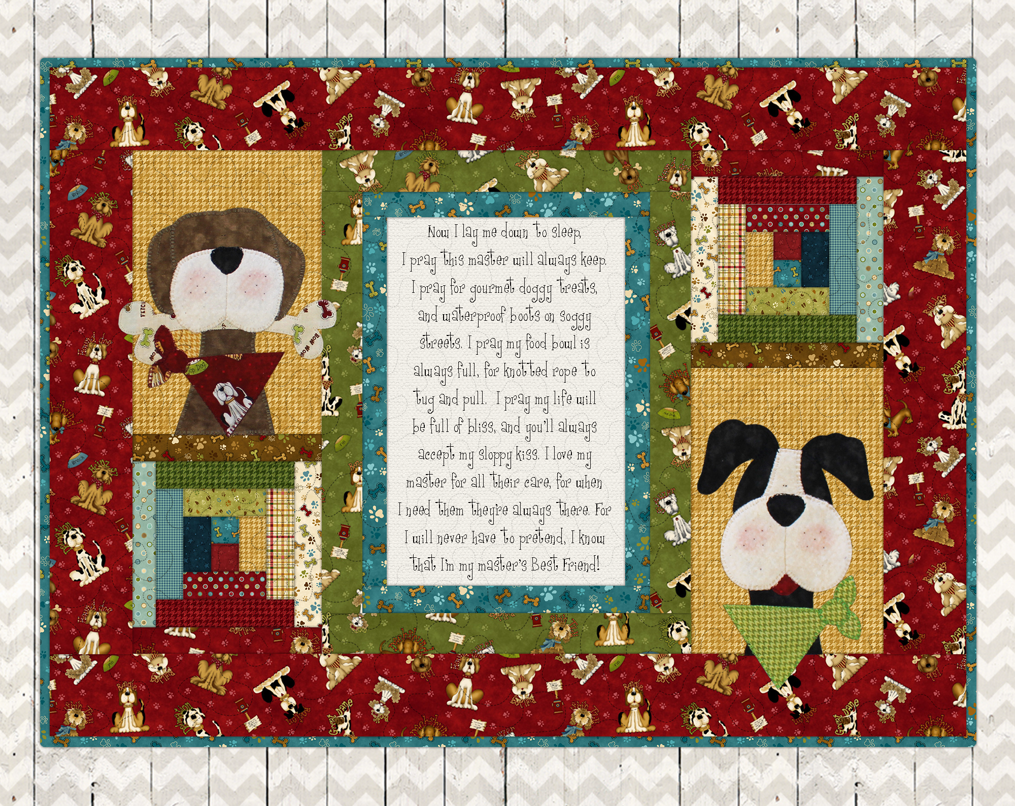 In the Dog House...A Dog's Prayer (Red Border)