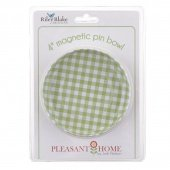 4 Magnetic Pin Bowl By Pleasant Home for Riley Blake Designs Green Plaid