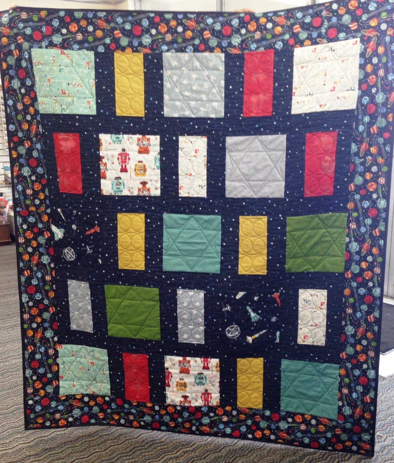 Galaxy quilt kit for Galaxy quilt fabric