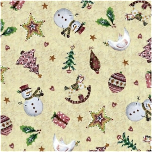 Sale fabric blank quilting noel btr5902 ivory for Quilting fabric sale