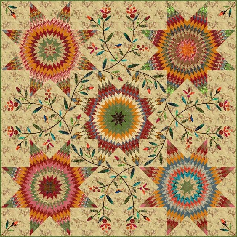 Pennsylvania Star Quilt Kit By Edyta Sitar