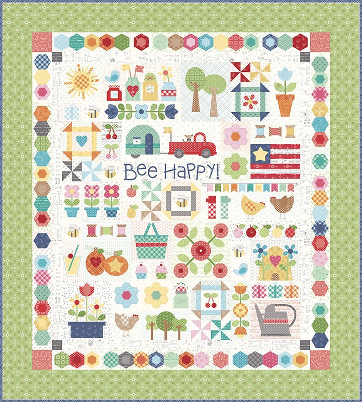 Bee Happy Quilt Kit RESERVATION FEE