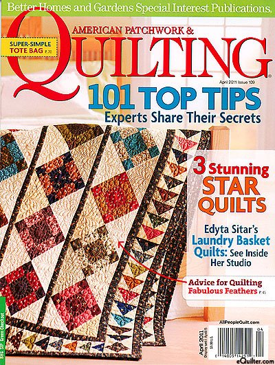 Magazine Better Homes And Gardens American Patchwork Quilting Magazine Issue 109 April 2011
