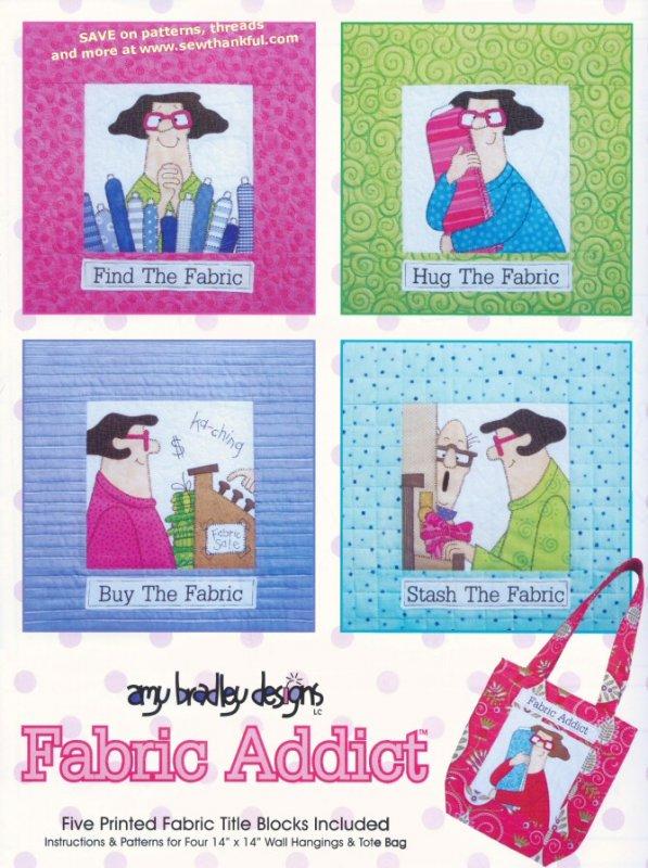 Pattern AMY BRADLEY DESIGNS Fabric Addict Quilt Applique Wall ... : stash addict quilts - Adamdwight.com