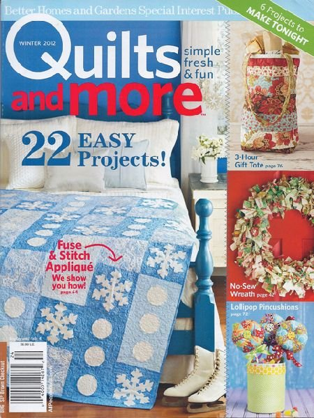 Magazine Better Homes And Gardens Specialty Publication Quilts And More Quilt Magazine 2012 Winter