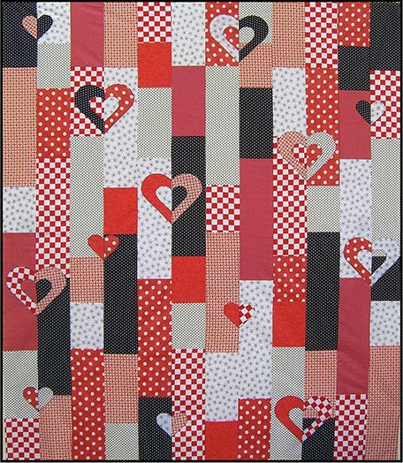 Quilt Pattern Uptown Girl : Heart Strings Quilt Pattern by Uptown Girl Quilts - 1006 - 20369