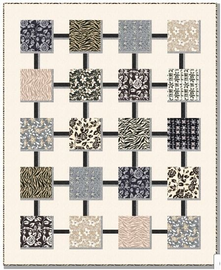 Nature Rhythms Quilt Kit-54 1/2 x 67 by Johnny K Studio for Clothworks