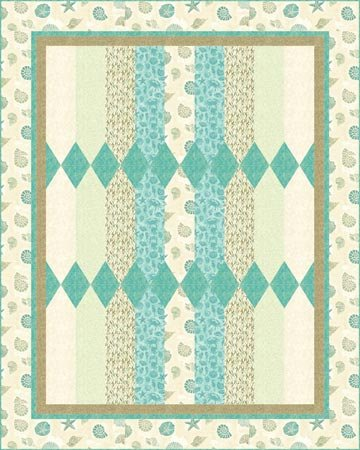 Picket Fence Quilt pattern 72 x 90 - PTN764