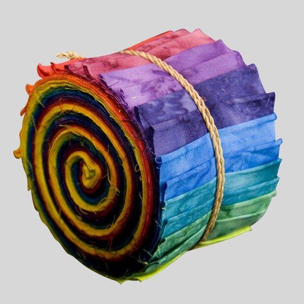 Color Wheel Batik Sushi Rolls by Mirah - SUR-05
