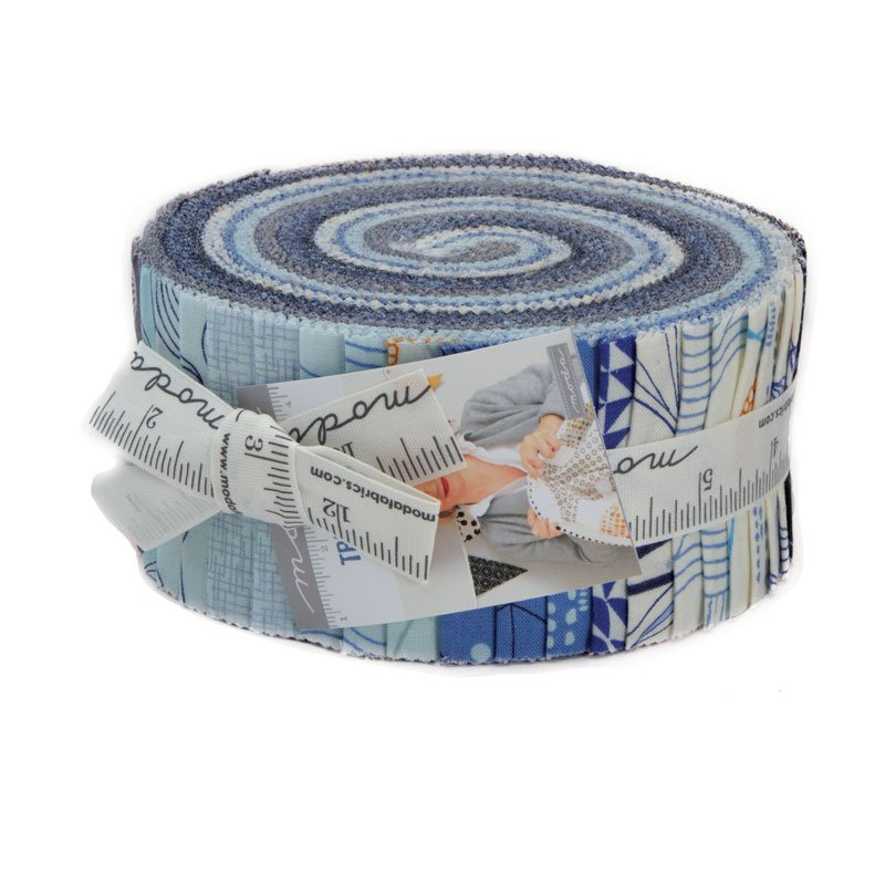 Moda True Blue Jelly Roll